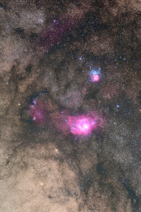 trifid and lagoon nebula - photo #40