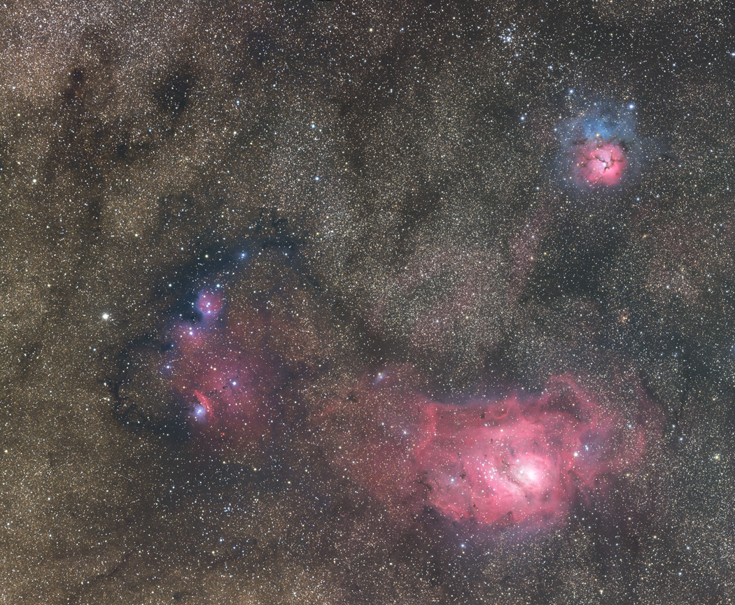 trifid and lagoon nebula -#main